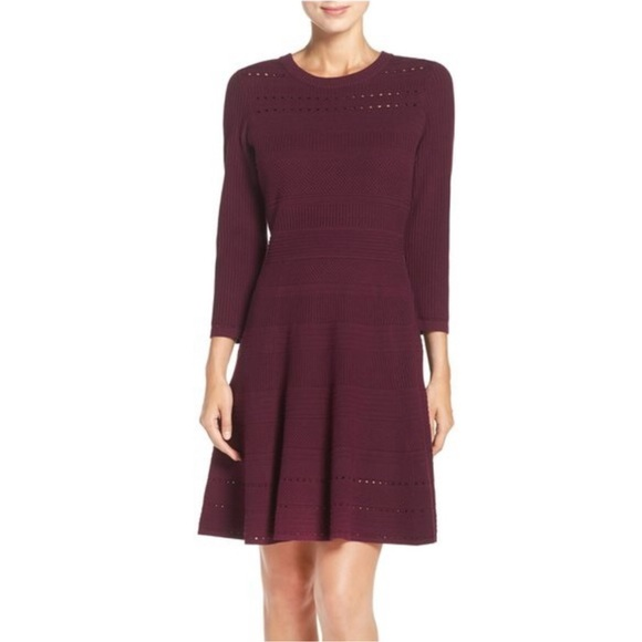 Nwot Eliza J Fit Flare Sweater Dress Poshmark